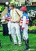 Kevin Boniface & Erika Taylor in the paddock before the Longines International Ladies Fegentri Amateur race at Delaware Park on 6/8/15