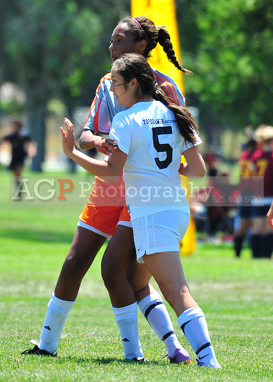Mariah Navarrette of the Irvine Stikers plays during the RAGE College Showcase 2010 in Pleasanton California July 25, 2010. (Photo by Alan Greth)