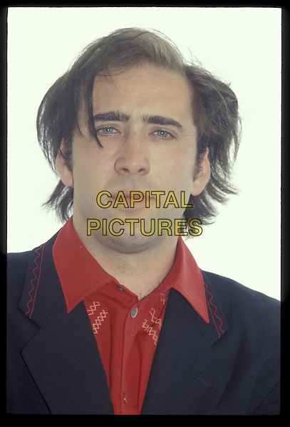 NICOLAS CAGE.Ref: 026.portrait, headshot .*RAW SCAN- photo will be adjusted for publication*.www.capitalpictures.com.sales@capitalpictures.com.©Capital Pictures
