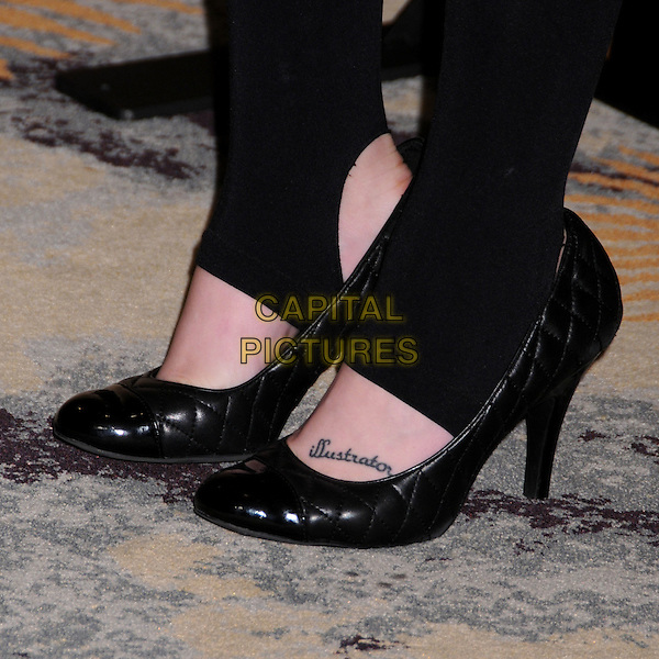 LINDSEY SHAW'S SHOES .12th Annual PRISM Awards at the Beverly Hills Hotel, Beverly Hills, California, USA..April 24th, 2008.black heels tattoo illustrator lindsay leggings .CAP/ADM/BP.©Byron Purvis/AdMedia/Capital Pictures.