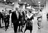 Washington, DC - (FILE) -- United States President Bill Clinton and first lady Hillary Rodham Clinton depart a Democratic fund-raiser at the D.C. Convention Center in Washington, D.C. on Monday, June 28, 1993.  Vice President Al Gore and his wife, Tipper, pictured at far left accompanied them..Credit: White House via CNP