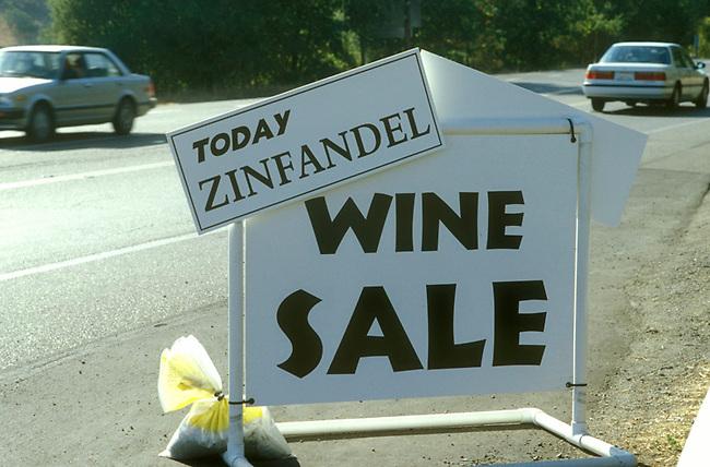 Sign at Napa Valley winery