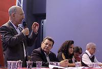 SAO PAULO, SP, 22.05.2015 - LULA-SP -  O presidente Nacional do PT, Rui Falcão, durante a abertura da etapa estadual de São Paulo do 5º Congresso do Partido dos Trabalhadores na quadra dos Bancários, na região central de São Paulo, SP, nesta sexta-feira, 22. (Foto: Fernando Neves/ Brazil Photo Press)