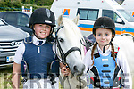 Enjoying the Blennerville Pony Show on Sunday were Sive Horgan and Shauna McElligott  with jingle bells