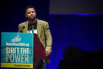 Phillip Brian Agnew, executive director of the Dream Defenders speaks at Powershift 2013 in Pittsburgh, PA. (Photo by: Robert van Waarden)