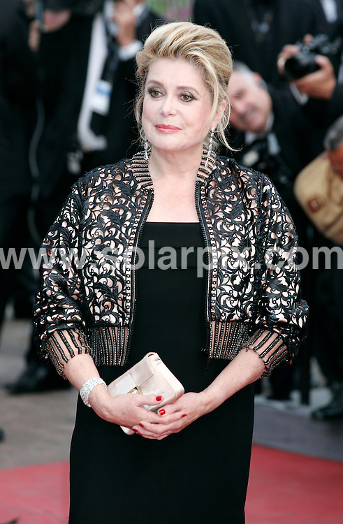 **ALL ROUND PICTURES FROM SOLARPIX.COM**                                             **UK AND SPAIN SYNDICATION RIGHTS ONLY**                                                                                   Arrivals at Les Bien-Aimes premiere and closing night 64th Cannes Film Festival                                                                            .This pic:    Catherine Deneuve                                                                                          JOB REF:    13419    CPR Heinz       DATE:  24.05.11                                                          **MUST CREDIT SOLARPIX.COM OR DOUBLE FEE WILL BE CHARGED**                                                                      **MUST AGREE FEE BEFORE ONLINE USAGE**                               **CALL US ON: +34 952 811 768 or LOW RATE FROM UK 0844 617 7637**