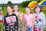 Laura O'Connor, Lorraine Crowley, Leah Fleming, Aliana Fleming and Breda Crowley having fun at the Anabala NS, Kilcummin family fun day on Sunday
