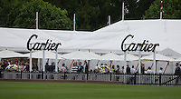 Cartier area during the Cartier Queens Cup Final match between King Power Foxes and Dubai Polo Team at the Guards Polo Club, Smith's Lawn, Windsor, England on 14 June 2015. Photo by Andy Rowland.