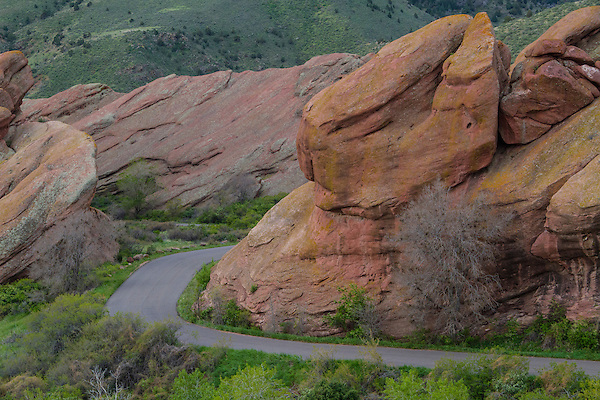 Canyon road in Red Rocks State Park, Colorado