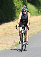 Katja Petri auf dem Fahrrad - Mörfelden-Walldorf 15.07.2018: 10. MöWathlon