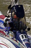 Winner Mike Seebold (#11) takes a victory lap.