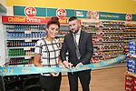 Official opening of new Dealz store in Enniscorthy. Annie Kinsella (duty manager) and Rob Anderson (store manager) cutting the ribbon. Photo: John Walsh/@Newsfile