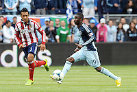 Peterson Joseph (19) midfield Sporting KC in action..Sporting Kansas City defeated Chivas USA 4-0 at Sporting Park, Kansas City, Kansas.