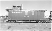 Long caboose #0503.<br /> D&amp;RGW  Alamosa, CO  Taken by Richardson, Robert W. - ca 1953