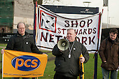 Len Campling, Greenwich PCS.  March against proposed cuts in spending by Greenwich Council, Woolwich, London.