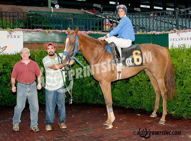 Distortedredhead winning at Delaware Park on 8/1/13