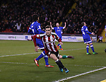 Billy Sharp of Sheffield Utd turns to celebrate scoring the first goal during the English League One match at Bramall Lane Stadium, Sheffield. Picture date: December 26th, 2016. Pic Simon Bellis/Sportimage