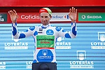 David Villella (ITA) Cannondale Drapac retains the climbers Polka Dot Jersey on the podium at the end of Stage 18 of the 2017 La Vuelta, running 169km from Suances to Santo Toribio de Li&eacute;bana, Spain. 7th September 2017.<br /> Picture: Unipublic/&copy;photogomezsport | Cyclefile<br /> <br /> <br /> All photos usage must carry mandatory copyright credit (&copy; Cyclefile | Unipublic/&copy;photogomezsport)