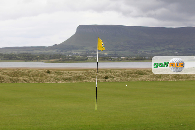 The 11th green during the Athlone V Westport Connacht Senior Cup Final at Co.Sligo Golf Club in Rosses Point on Sunday 28th June 2015.<br /> Picture:  Golffile | Thos Caffrey
