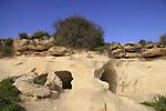 Israel, Shephelah, hiding caves in Tel Goded