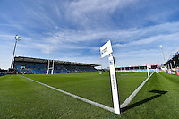 A general view of the Sandy Park pitch prior to the match. Rugby World Cup Pool C match between Tonga and Namibia on September 29, 2015 at Sandy Park in Exeter, England. Photo by: Patrick Khachfe / Onside Images
