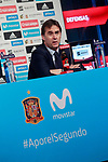 The coach of the national soccer team of Spain, Julen Lopetegui, presents the list of players for the Russian World Cup 2018. May 21,2018. (ALTERPHOTOS/Acero)