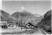 RGS Telluride depot.<br /> RGS  Telluride, CO  Taken by Christian, Robert &quot;Bob&quot; - 1946