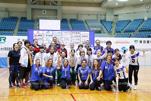 General view, <br /> AUGUST 6, 2017 - Goalball : <br /> 2017 Japan Para Championships Goalball <br /> Award ceremony <br /> at Chiba port arena, Chiba, Japan. <br /> (Photo by Yohei Osada/AFLO SPORT)