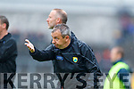 Kerry Manager Peter Keane during the Munster Senior Football Semi Final between Kerry and Clare at Ennis on Saturday night.