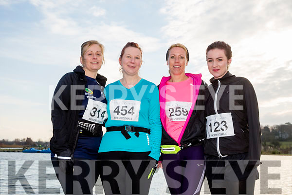 Helen Nolan-Finn, Anna Sheehy, Fiona Maher and Lorraine Endersen, participants in the Kerry's Eye Valentines Weekend 10 mile road race on Sunday.