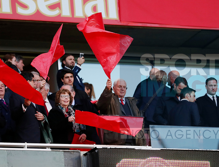 Arsenal's chairman Sir Chips Keswick during the Europa League Semi Final 1st Leg, match at the Emirates Stadium, London. Picture date: 26th April 2018. Picture credit should read: David Klein/Sportimage
