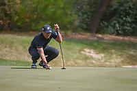 Yusaku Miyazato (JAP) lines up his putt on 7 during round 1 of the World Golf Championships, Dell Match Play, Austin Country Club, Austin, Texas. 3/21/2018.<br /> Picture: Golffile | Ken Murray<br /> <br /> <br /> All photo usage must carry mandatory copyright credit (&copy; Golffile | Ken Murray)