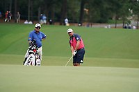 Graeme McDowell (NIR) chips onto the 11th green during Wednesday's Practice Day of the 2017 PGA Championship held at Quail Hollow Golf Club, Charlotte, North Carolina, USA. 9th August 2017.<br /> Picture: Eoin Clarke | Golffile<br /> <br /> <br /> All photos usage must carry mandatory copyright credit (&copy; Golffile | Eoin Clarke)