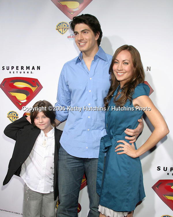 Tristan Lake Leabu & Brandon Routh & Courtney Ford.Dvd Release party for Superman Returns.Social Hollywood.Los Angeles, CA.November 16, 2006.©2006 Kathy Hutchins / Hutchins Photo....