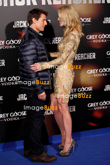 Tom Cruise & Rosamund Pike attends the 'Jack Reacher' premiere at the Callao cinema in Madrid, Spain. December 13, 2012.