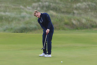 Alan Fahy (Dun Laoghaire) on the 4th green during Round 1 of the The Amateur Championship 2019 at The Island Golf Club, Co. Dublin on Monday 17th June 2019.<br /> Picture:  Thos Caffrey / Golffile<br /> <br /> All photo usage must carry mandatory copyright credit (© Golffile | Thos Caffrey)