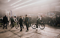 Edvald Boasson Hagen (NOR/Dimension Data) returning from the team presentation in the legendary 'Kuipke' velodrome<br /> <br /> Omloop Het Nieuwsblad 2018<br /> Gent &rsaquo; Meerbeke: 196km (BELGIUM)