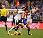 Valencia CF's  Daniel Parejo  and Sporting de Gijon's  Sanabria during La Liga match. January 31, 2016. (ALTERPHOTOS/Javier Comos)