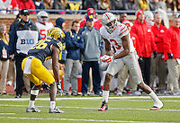 Ohio State Buckeyes wide receiver Michael Thomas (3) against Michigan Wolverines at Michigan Stadium in Arbor, Michigan on November 28, 2015.  (Dispatch photo by Kyle Robertson)