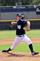 August 24, 2009: Pitcher Caleb Cotham of the GCL Yankees delivers a pitch during a game at Yankees Training Complex in Tampa, FL.  Cotham was selected in the 5th round (165th overall) of the 2009 MLB Draft.  The GCL Yankees are the Gulf Coast Rookie League affiliate of the New York Yankees.  Photo By Mark LoMoglio/Four Seam Images