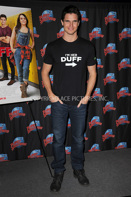 WWW.ACEPIXS.COM<br /> February 19, 2015 New York City<br /> <br /> Robbie Amell of 'The Duff'  visitsPlanet Hollywood Times Square on February 19, 2015 in New York City.<br /> <br /> Please byline: Kristin Callahan/AcePictures<br /> <br /> ACEPIXS.COM<br /> <br /> Tel: (646) 769 0430<br /> e-mail: info@acepixs.com<br /> web: http://www.acepixs.com