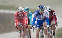 Thib'oooh' Pinot (FRA/FDJ) riding strong in the early breakaway group<br /> <br /> 11th Strade Bianche 2017
