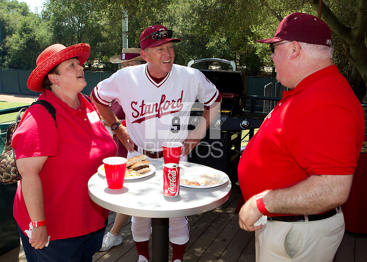 STANFORD, CA - May 12, 2012: Buck / Cardinal Club BBQ with Coach Mark Marquess prior to the Stanford / Washington State game, Bud Klein Varsity Clubhouse, Sunken Diamond Stadium .