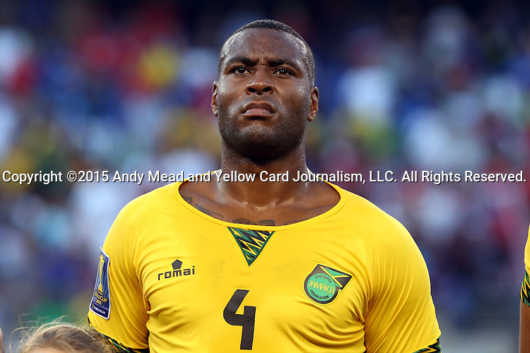 18 July 2015: Wes Morgan (JAM). The Jamaica Men's National Team played the Haiti Men's National Team at M&T Bank Stadium in Baltimore, Maryland in a 2015 CONCACAF Gold Cup quarterfinal match. Jamaica won the game 1-0.