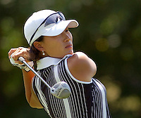 Se Ri Pak of Korea drives off the second tee in the final round of the  LPGA Betsy King Classic Sunday, Aug. 25, 2002 in Kutztown, Pa. (AP Photo/Brad C Bower)