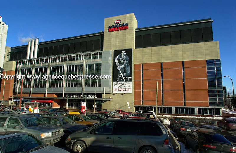NEW MAJORITY OWNER FOR THE MONTREAL CANADIENS AND SALE OF THE MOLSON CENTRE<br /> <br /> March 7th, 2001 outside photo of the north side of the Molson Centre; home of the Montreal `` Canadiens `` hockey club.<br /> Molson Inc. today on January 31st, 2001  that a new majority owner (for the Montreal Canadiens and  the Molson Centre) ;  Colorado businessman George N. Gillett Jr. will purchase 80.1% controlling interest in the hockey team and 100% of the Molson Centre in a deal valued at $275 million. Molson will retain a 19.9% stake in the hockey team and receive a total of $190 million in cash. &quot;<br /> George Gillett is an experienced businessman with accomplishments in sports, resort and leisure management, television broadcasting, transportation and agriculture. He currently serves as chairman of Booth Creek Management Corp., and managing partner of the Gillett Family Partnerships, which control or have investments in a variety of businesses. Mr. Gillett is also Chairman and Chief Executive Officer of Booth Creek Ski Holdings, Inc., made up of some of the finest ski resorts in the United States. &quot;<br /> Molson's decision to sell a majority interest in the hockey club was announced in June 2000, after a thorough examination of its role in the sports and entertainment industry, in the context of the Company's commitment to return to its brewing roots. It is also a logical step in the development of a strategy to improve the hockey team while leveraging the 40-year business relationship between Molson and the Canadiens. <br /> Molson (TSE: MOL.A) is Canada's pre-eminent brewer with more than $2 billion in annual sales. Founded in 1786, Molson is North America's oldest beer brand and a global brand name with products that include Molson Canadian, Molson Export, Molson Dry, Rickard's Red and the Brazilian beer brand, Bavaria. <br /> <br /> Photo by Pierre Roussel / Liaison<br /> NOTE :  Nikon D-1 Tiff opened as NTSC and converted to Adobe RGB. No levels adjust
