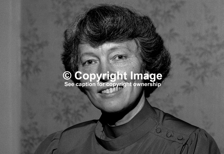 Mrs Anne McGaughey, wife, Very Rev Dr David McGaughey, Moderator of the Presbyterian Church in Ireland, 1994/1995, 19850041AMG...Copyright Image from Victor Patterson, 54 Dorchester Park, Belfast, UK, BT9 6RJ..Tel: +44 28 9066 1296.Mob: +44 7802 353836.Voicemail +44 20 8816 7153.Skype: victorpattersonbelfast.Email: victorpatterson@mac.com.Email: victorpatterson@ireland.com (back-up)..IMPORTANT: If you wish to use this image or any other of my images please go to www.victorpatterson.com and click on the Terms & Conditions. Then contact me by email or phone with the reference number(s) of the image(s) concerned.