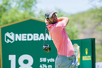 Scott Jamieson (SCO) on the 18th tee during the first round at the Nedbank Golf Challenge hosted by Gary Player,  Gary Player country Club, Sun City, Rustenburg, South Africa. 14/11/2019 <br /> Picture: Golffile | Tyrone Winfield<br /> <br /> <br /> All photo usage must carry mandatory copyright credit (© Golffile | Tyrone Winfield)
