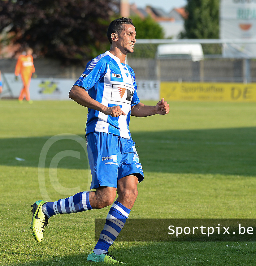20140626 - LAUWE, BELGIUM : Gent Mustapha Oussalah pictured during  a friendly match between FC Gullegem and Belgian first division soccer team KAA Gent, the second match for KAA Gent of the preparations for the 2014-2015 season, Tuesday 24 June 2014 in Lauwe. PHOTO DAVID CATRY