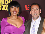 HOLLYWOOD, CA - APRIL 06:  Actress/singer Jennifer Hudson (L) and writer/producer/actor Adam Sandler attend the premiere of Netflix's 'Sandy Wexler' at the ArcLight Cinemas Cinerama Dome on April 6, 2017 in Hollywood, California.